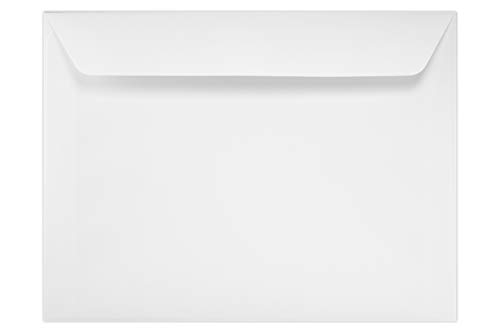 7 x 10 Booklet Envelopes - 24lb. Bright White (50 Qty)   Perfect for Catalogs, Annual Reports, Brochures, Magazines, Invitations   12237-50