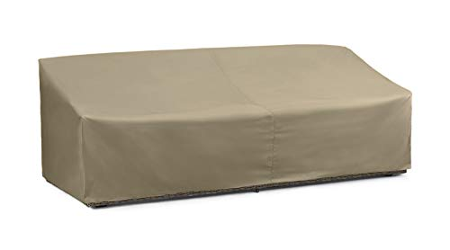 SunPatio Outdoor Sofa Cover, Sectional Sofa Cover with Seam Taped, Waterproof Patio Furniture Cover with Air Vent, All Weather Protection, Oversized Couch Cover, 93.5'L x 45'W x 39'H, Neutral Taupe