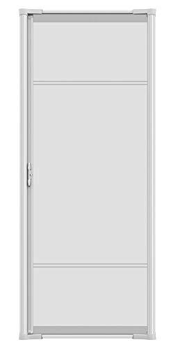 Brisa White Aluminum Frame Retractable Screen Door 78' Single