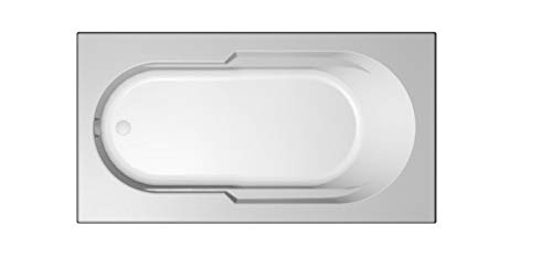 Jacuzzi J2D6036 BUX XXX Signature 60' Drop In Soaking Bathtub with Universal Dra, White