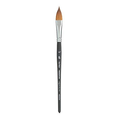 Princeton Aqua Elite NextGen Artist Brush, Series 4850 Synthetic Kolinsky Sable for Watercolor, Oval Wash, Size 1/2