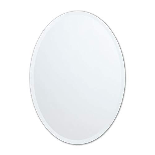 Better Bevel 24' x 36' Frameless Oval Mirror | 1' Beveled Edge