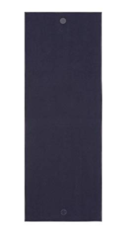 Yogitoes Manduka Yoga Towel for Mat Nonslip and Quick Dry for Hot Yoga with Rubber Bottom Grip Dots 68 Inch Long Midnight Thin and Lightweight