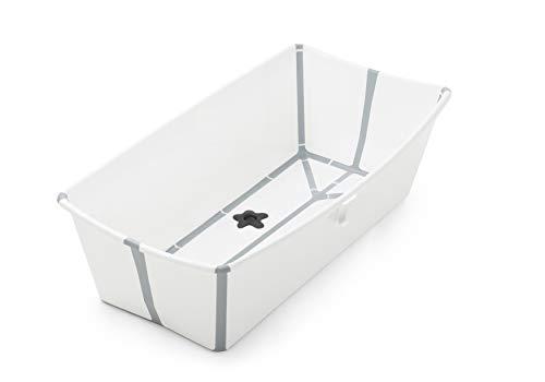 Stokke Flexi Bath Heat Sensitive Plug Baby Bath, X-Large, White Grey