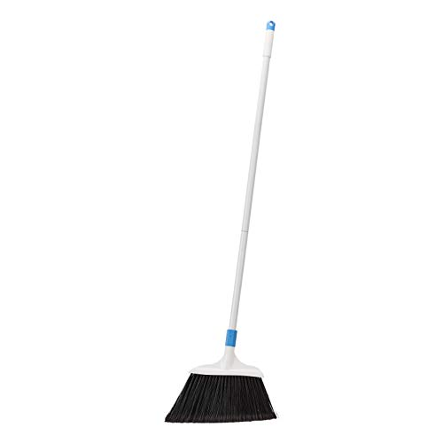 AmazonBasics Heavy-Duty Broom, Blue and White