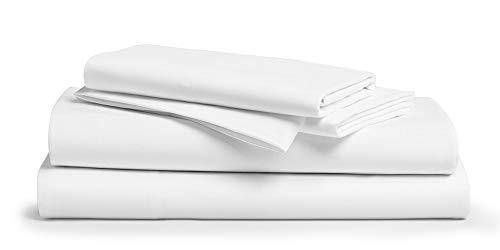 Comfy Sheets 100% Egyptian Cotton King Sheet Set 1000 Thread Count 4 Pc King White Bed Sheet with Pillowcases, Hotel Quality Fits Mattress Up to 18'' Deep Pocket