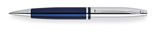 Cross Calais Chrome/Blue Lacquer Ballpoint Pen, Blue/Chrome (AT0112-3)