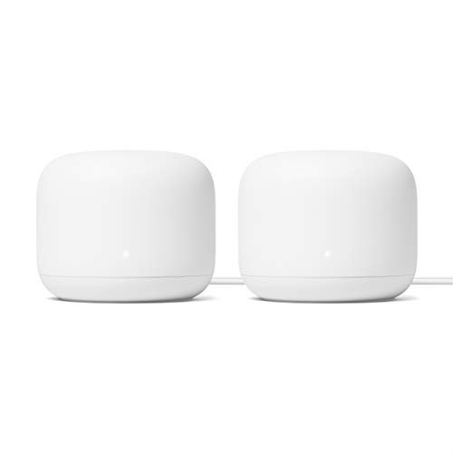 Google Nest WiFi Router 2 Pack (2nd Generation) – 4x4 AC2200 Mesh Wi-Fi Routers with 4400 Sq Ft Coverage