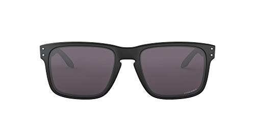 Oakley Men's Holbrook Non-polarized Iridium Square Sunglasses, MATTE BLACK, 57.0 mm