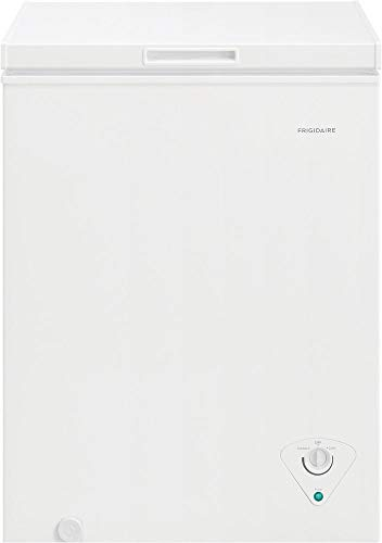 Frigidaire FFCS0522AW Freestanding Chest Counter Depth Freezer with 5 cu. ft. Capacity, White Door, Manual Defrost, CSA Certified, Adjustable Temperature Control, Power-On Indicator Light in White