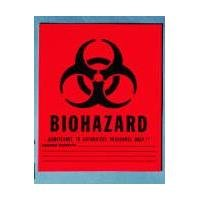 Medical Action Infectious Waste Bag, Red, 1 Gallon, 11' x 14.25', 20/Roll
