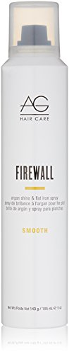 AG Hair Smooth Firewall Argan Shine & Flat Iron Spray, 5 oz