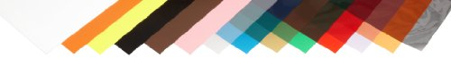 Plastic Shim Stock, Flat Sheet Assortment, 0.0005-0.030' Thickness, 10' Width, 20' Length (Pack of 14)