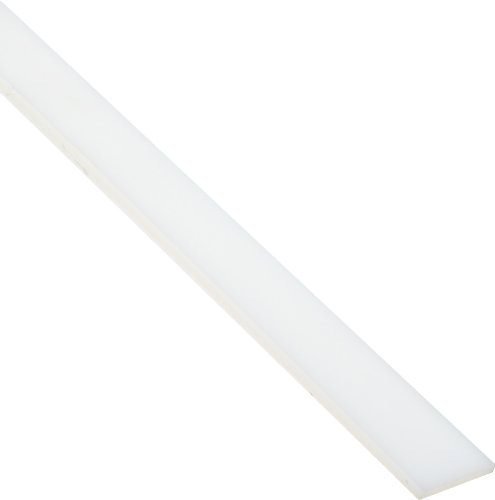 Small Parts - ZAM2966-B0070ZC3KS Nylon 6/6 Rectangular Bar, Opaque Off-White, Standard Tolerance, ASTM D5989, 1/8' Thickness, 1' Width, 1' Length