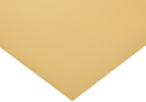 Polyester Shim Stock, Flat Sheet, Tan, 0.004' Thickness, 10' Width, 20' Length (Pack of 1)