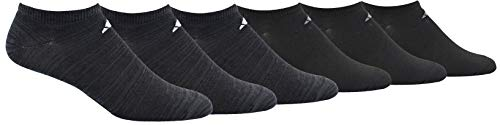 adidas Men's Superlite Low Cut Socks with arch compression (6-Pair),Black - Night Grey Space Dye/ White Black/ Onix,Large, (Shoe Size 6-12)