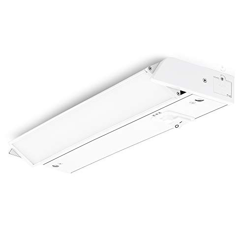 PARMIDA LED Swivel Under Cabinet Light (Adjustable Lens Angle), Hardwired or Plug-in, 12 Inch, 8W, 480lm, Dimmable, Linkable, 3-in-1 Color Levels, On/Off Switch Included, ETL & Energy Star, 120V