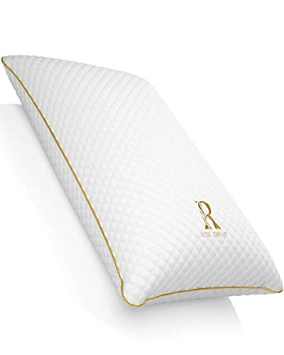 Royal Therapy King Memory Foam Pillow, Neck Pillow Bamboo Adjustable Side Sleeper Pillow for Neck & Shoulder, Support for Back, Stomach, Side Sleepers, Orthopedic Contour Pillow