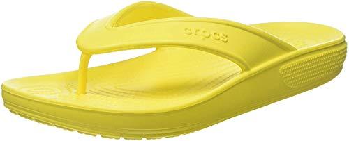 Crocs Classic II Flip Flop|Casual Beach Shower Shoe Sandal, Lemon, 9 US Women / 7 US Men M US