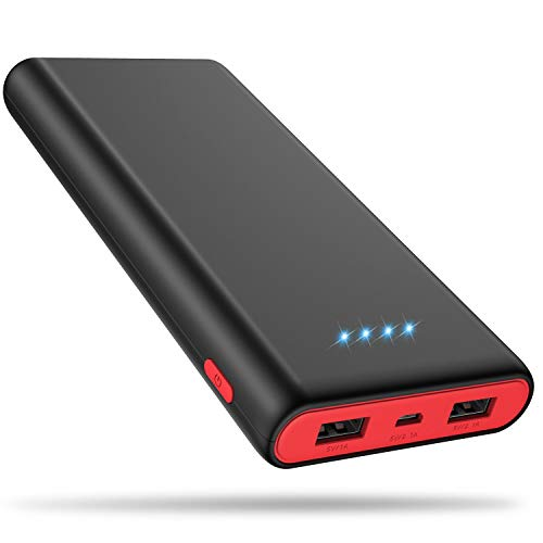 Portable Charger Power Bank 25800mAh, Ultra-High Capacity Fast Phone Charging with Newest Intelligent Controlling IC, 2 USB Ports External Cell Phone Battery Pack for iPhone,Samsung Android,Table etc