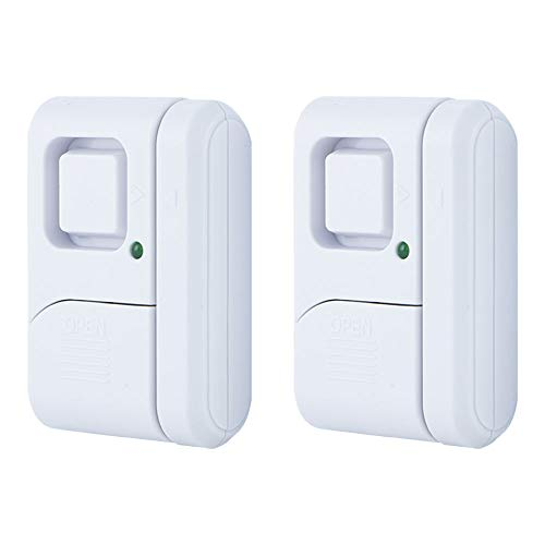 GE Personal Security Window/Door Alarm, 2-Pack, DIY Home Protection, Burglar Alert, Wireless Alarm, Off/Chime/Alarm, Easy Installation, Ideal for Home, Garage, Apartment, Dorm, RV and Office, 45115