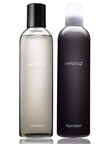 Sulfate free Hair Growth HMENZ Shampoo and Conditioner SET  & for Dry Dundruff  also for Men's Beard/Oily Thinning Hair/Long Hair (Made in Japan 日本) 8.45 & 8.45 fl oz