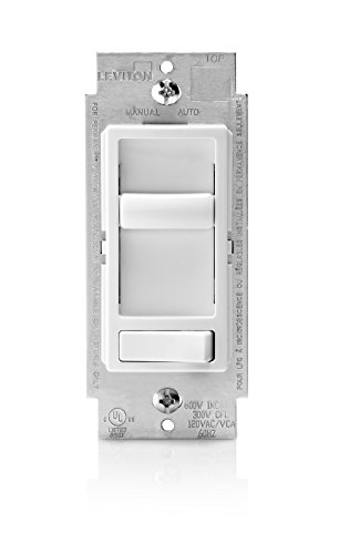 Leviton R62-06674-P0W Sure Decora Electro Mechanical Preset Universal Slide Dimmer, 120 Vac, 600/150 W, 1 P, 3 Way, 1-Pack, White