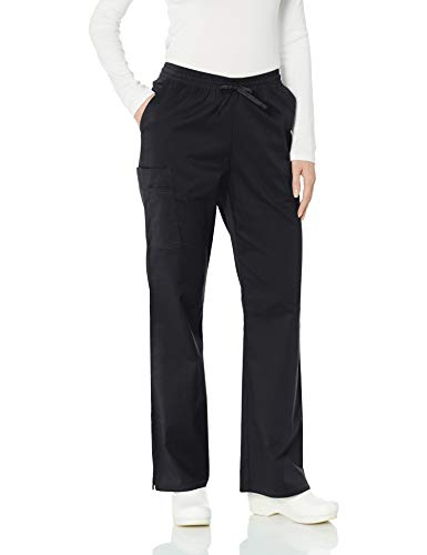 Amazon Essentials Women's Quick-Dry Stretch Loose Fit Scrub Pants, Black, Small