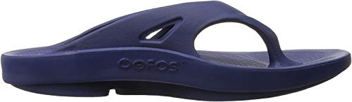 OOFOS Unisex Original Thong flip flop , Navy, 15 M US Women / 13 M US Men's