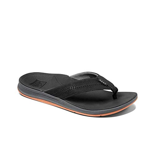 Reef Ortho-Bounce Coast - Ortho Footbed with Arch Support and Heel Cupping   Black   Size 12