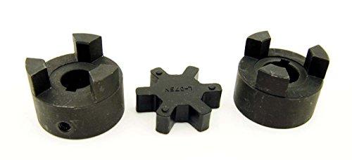 1/2' to 5/8' L075 Flexible 3-Piece L-Jaw Coupling Coupler Set & Rubber Spider
