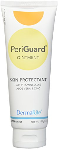 Dermarite PeriGuard Antimicrobial Skin Protectant Ointment, 2 Pack - 3.5 oz Tube - with Vitamins A, D, E, Aloe Vera and Zinc - Clear Moisture Barrier Cream