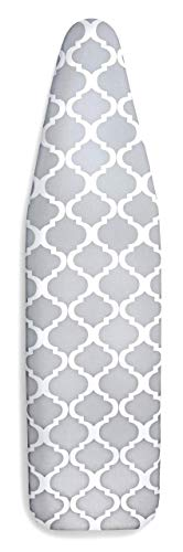 Epica Silicone Coated Ironing Board Cover- Resists Scorching and Staining - 15'x54' (Board not Included) (Lattice: Grey and White, 15'x54')