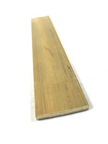 Brass Flat Rectangular Bar Stock 1/8' x 1' x 6'- Knife making, craft C360-1 Bar