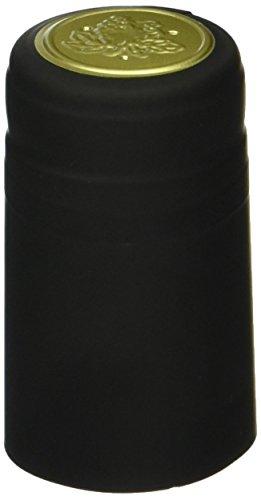 30 Black PVC Shrink Capsules