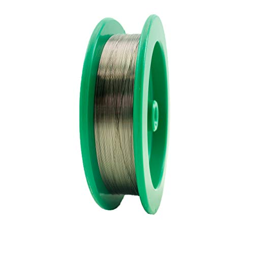 0.0050'' (0.1270 mm) Diameter 99.95% Tungsten Fine Wire, 25 feet, Cleaned and straightened