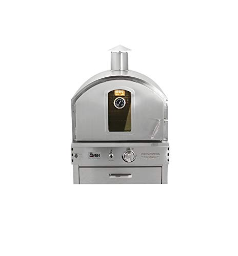 Summerset 'The Oven' Outdoor Built-in or Counter Top Large Capacity Gas Oven with Pizza Stone and Smoker Box, 304 Stainless Steel Construction, Natural Gas