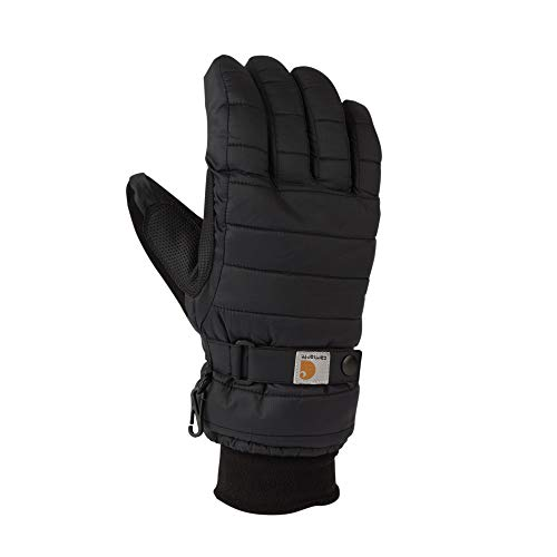 Carhartt Women's Quilts Insulated Breathable Glove with Waterproof Wicking Insert, Black, Small