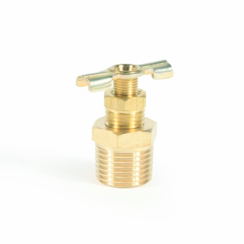 Camco ½' RV Water Heater Replacement Drain Valve - Replace Your RV Water Heater Drain Valve | Simple and Easy Installation | Durable Brass Construction - (11703)