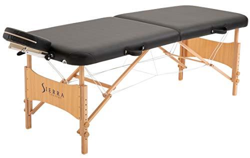 SierraComfort Preferred Portable Massage Table, Black