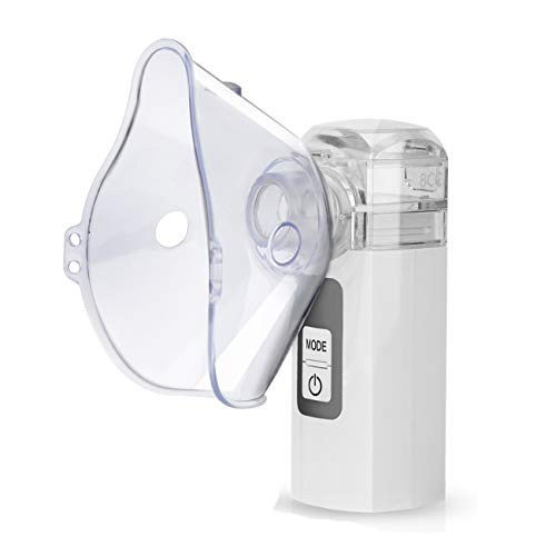 Zionstyle Mesh Nebulizer, Handheld Atomizer Nebulizer Portable Nebulizer Machine for Travel Home Use, Personal Steamer Inhalers for Breathing Problems