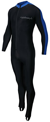 Ubestyle UPF 50+ Lycra Full Body Sports Dive Skins Rash Guard Swimsuit - Diving Snorkeling Swimming (BLUENEW, XL)