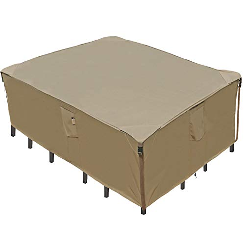 Waterproof Patio Furniture Set Cover, Heavy Duty Lawn Patio Furniture Cover with Reinforced Corner, Patio/Outdoor Table Cover, Patio/Outdoor Dining Rectangular Table Chairs Winter Cover