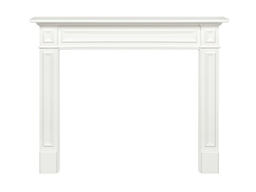 Pearl Mantels 525-48 Mike Fireplace Mantel Surround MDF, 48-Inch, White 48 Inch