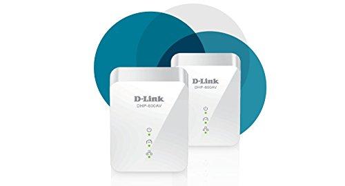 D-Link Powerline Adapter Starter Kit Ethernet Over Power Gigabit AV2 Up to 1000Mbps MIMO Internet Network Wall Plug in (DHP-601AV)