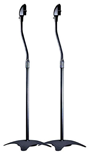 Monoprice 103022  5 lb. Capacity Speaker Stands - Black (Pair) Height Adjustable From About 26.8in to 43.3in