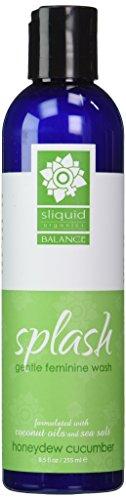 Sliquid Organics Splash Balance Gentle Feminine Wash [Honeydew Cucumber]: Size 8.5 Oz.
