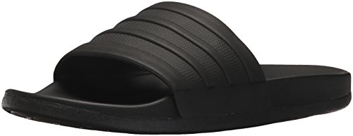 adidas Women's Adilette Comfort Slide Sandal, black/black/black, 9 M US