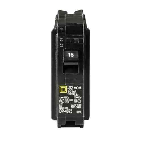 Square D by Schneider Electric HOM115CP Homeline 15 Amp Single-Pole Circuit Breaker