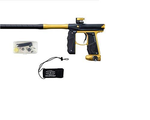 Empire Mini GS Paintball Gun - Dust Black/Gold 2-pc Barrel